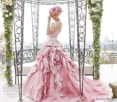 Brides Gowns Handfastings Weddings:  A gorgeous pink gown.