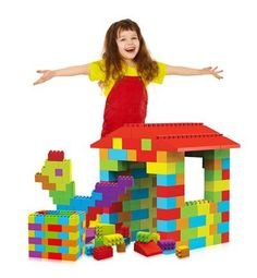 Mass Bricks Megablock Building Block Set for Toddlers - 121 Pieces, Build your child's world with this colorful LIVE-SIZED brick set. Ideas for bookshelves, tables, chairs, storage bins, fortresses, castles, lemonade stands, dog houses, market place vendors, royal thr..., #Toys, #Stacking Blocks