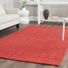 Safavieh Casual Natural Fiber Handmade Red Jute Rug (9' x 12') (NF730D-9)
