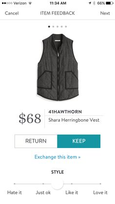 ***** Love this herringbone vest I just received! Cannot wait to wear this fall! Stitch Fix Fall, Stitch Fix Spring Stitch Fix Summer 2016 2017. Stitch Fix Fall Spring fashion. #StitchFix #Affiliate #StitchFixInfluencer