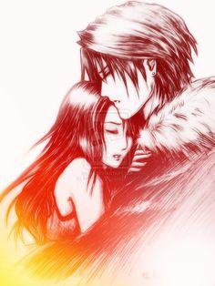 Squall x Rinoa hug Logo colors by ~Emeraldus on deviantART