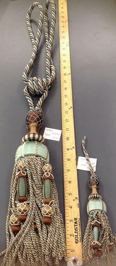 Light Aqua blue SIENA Curtain tieback tassel,Home dec Curtain Accessories big