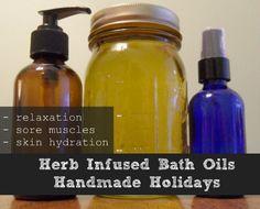 Herb Infused Bath Oils – Handmade Holidays