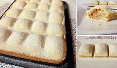 Koláčik ľahučký ako perinka. Apod ňou sa ukrýva štedrá porica sladkých jabĺčok aškorice. Doprajte si vynikajúci dezert kpopoludňajšej kávičke, ktorý pripravíte jedna radosť! :-) Potrebujeme: Cesto:  500 g hladkej múky  200 g krupicového cukru  2 vajcia  250 g zmäknutého masla  ¼ lyžič