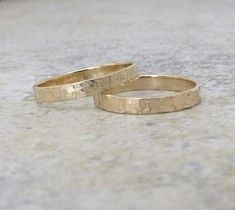 Marriage Rings - White Gold Wedding Bands Hammered Gold Wedding Rings Gold Hammered Bark Rings-Distressed 14K Engraved Customized on Etsy, 4372,88kr - Marriage rings are the jewel in common between him and you, it is the alliance of a long future and an age-old custom. Think about it, this ring will age along with you so why not choose the best, most beautiful and durable?