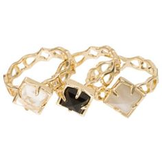 Kendra Scott Paisley Black Leopard Ring Set