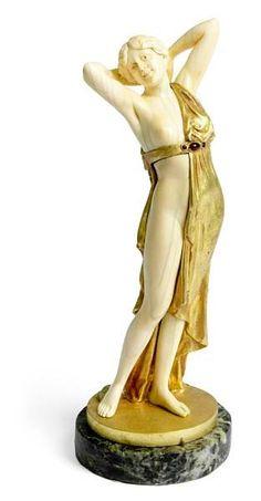 Ferdinand Preiss (German, 1882-1943): 'Phryne', a gilt bronze…