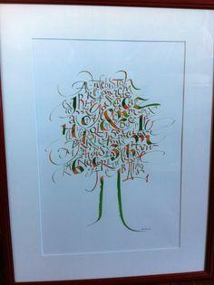 Arbre à lettres. Tree of Letters. Copyright Christophe Badani.