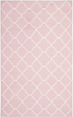 Safavieh Dhurries DHU554 Pink Ivory Rug