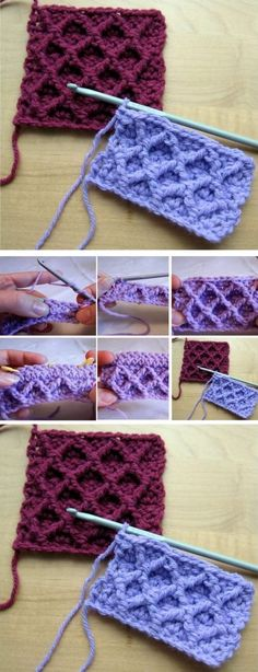 Waffle & Diamond Trellis Stitch Crochet Tutorials