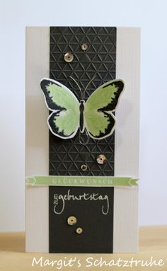 Stampin Up Watercolor Wings card - I don't even like butterflies, but this card is striking! Stampin Up Karten, Karten Diy, Stampin Up Cards, Wings Card, Butterfly Cards, Card Sketches, Card Tags, Paper Cards, Cute Cards