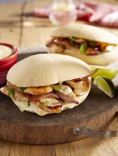 Pitas au poulet et au cumin - St Sever Fajitas, Burritos, Bagel, Finger Foods, Holiday Recipes, Sandwiches, Tacos, Easy Meals, Lunch