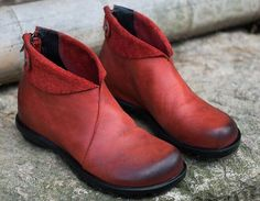 RED-Original personality women boots/ leather by YGMoriginaldesign