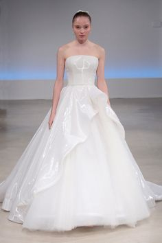 Strapless Isabelle Armstrong wedding dress: http://www.stylemepretty.com/2016/10/12/isabelle-armstrong-bridal-week-fall-2017-wedding-dresses/ Photography: Randy Brooke