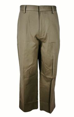 Dockers D3 Sharp Pants 32x30 Khaki Brown Classic Flat Front No Wrinkles New