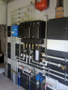 Water Heating, Heating And Cooling, Carriage House Plans, Mechanical Room, Hydronic Heating, Radiant Heat, Cool Technology, Boiler, Heating Systems