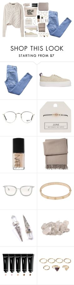 """""""Kick Ass"""" by breilachristou ❤ liked on Polyvore featuring mode, Isabel Marant, 7 For All Mankind, Eytys, Ray-Ban, Topshop, NARS Cosmetics, Yves Delorme, Oliver Peoples et Cartier"""
