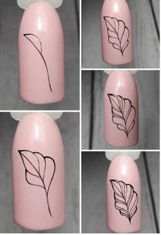 Nail Art Designs Videos, Nail Art Videos, Diy Nail Designs, Nail Art Plume, Diy Nails, Cute Nails, Nailart Gel, Nail Drawing, Flower Nail Art