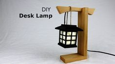 This video shows how to make a simple desk lamp made out of wood. This is a simple woodworking project that anyone can do with minimal tools and without a bi. Lantern Diy, Simple Desk, Easy Woodworking Projects, Diy Desk, Diy Tutorial, Desk Lamp, Lanterns, Lighting, Home Decor