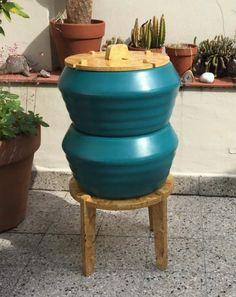 Compâs en turquesa! #compost #compostbin #garden #recycle #organic #design #greendesign #diseño #compostera #jardin