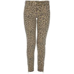 BY MALENE BIRGER leopard print jeans ($140) ❤ liked on Polyvore featuring jeans, leopard skinny jeans, 5 pocket jeans, patched skinny jeans, leopard print jeans and patched jeans