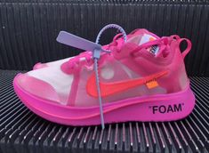 Off-White x Nike Zoom Fly SP Color  Tulip Pink Racer Pink Style c3165351c