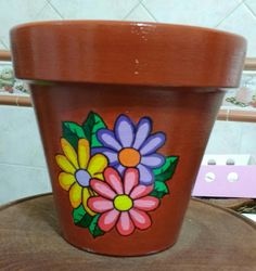 Colourful painting of pots Small Flower Pots, Clay Flower Pots, Flower Pot Crafts, Clay Pot Crafts, Cement Crafts, Painted Clay Pots, Painted Flower Pots, Paint Garden Pots, Flower Pot People