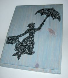 This looks sweet! Mary Poppins Silhouette String Art