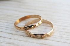 Rose gold ring, Stacking rings, Knuckle Rings, Band ring, Ring set of 2, Stack midi rings, Gold jewelry, Gold rose accessories, Unique gift on Etsy, $21.36 CAD