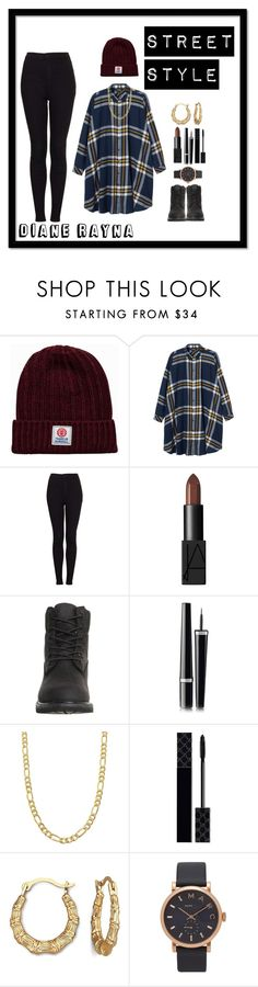 """""""Street Style #250"""" by dianerayna ❤ liked on Polyvore featuring Franklin & Marshall, Monki, Topshop, NARS Cosmetics, Timberland, Chanel, Fremada, Gucci, Marc Jacobs and vintage"""