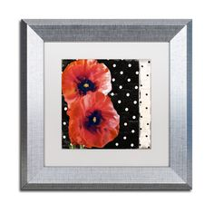 Color Bakery 'Scarlet Poppies II' Matted Framed Art