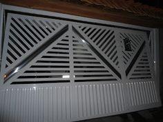 Modelos de portões de alumínio – Preços | Decorando Casas Home Gate Design, Large Gazebo, Gazebos, Gate House, Blinds, Home Appliances, Curtains, Home Decor, Metal