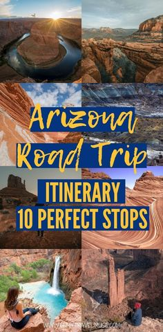 An epic Arizona road trip itinerary with 10 gorgeous places to visit! This itinerary incorporates some of Arizona's most incredible things to see, some of which are mega-famous and some of which are lesser known. Map included! Click to check them out and start planning the perfect Arizona road trip now.