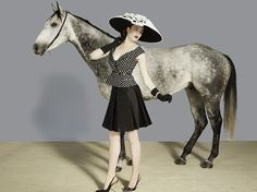 Royal Ascot 2012 Campaign ~ 'It's a dramatic dome in jet embroidered Italian straw,' explained Jones of this elaborate hat. Model: Charlotte Pallister