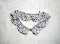 Silver  peter pan  collar  crochet detachable lace by vumap, €20.00