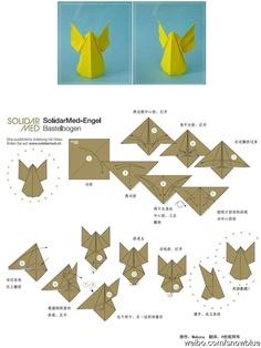 Origami simple Ángel