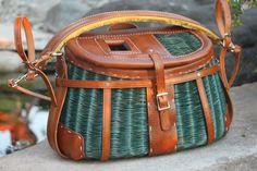 Restored Vintage Fishing Creel w/ Custom Shoulder/Chest Harness