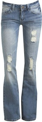 Details about Spiky Gold Wings Miss Me Boot Cut Jeans Ripped ...