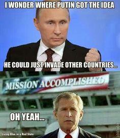 George W Bush, my hero.