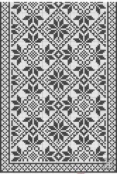 Crochet Curtain Pattern, Crochet Curtains, Curtain Patterns, Crochet Diagram, Crochet Chart, Filet Crochet, Cross Stitch Borders, Cross Stitch Flowers, Cross Stitch Patterns