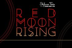 Red Moon Rising by Skyhaven Fonts on @creativemarket