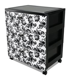 Add drawer storage to your closet and customize the pattern on the front panel to suit your room decor #organize