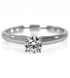 Set in a simple four prong setting, this 1/2 carat beauty will make the perfect engagement ring and it won't break the bank!