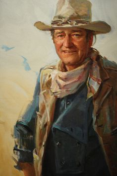 Painting of John Wayne by andrew pierce (I've seen this painting in person at the Oklahoma National Cowboy and Western Heritage Museum! John Wayne Quotes, John Wayne Movies, Western Art, Western Cowboy, Cowboy Art, Heritage Museum, Actor John, Tough Guy, Western Movies