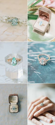 Jaw-Droppingly Beautiful Engagement Rings with Blue-Hued Gemstones!
