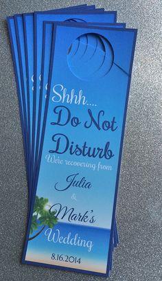 Wedding Door hangers for Destination/Beach Wedding- Customizable Aruba, Jamaica, Turks and Caicos, Punta Cana, Bahamas, Hawaii and more!