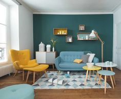 easily be combined with other types of styles and that combination looks amazing. Enjoy this gallery of amazing modern retro living room ideas