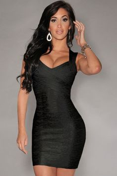 Hottest Trend Black Foil Print Bandage Celebrity Style Dress ❤ 'Add this one to your wishlist!'  #partywear #streetfashion #womenfashion