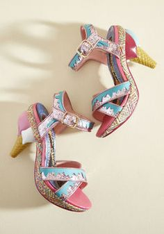 Give your wardrobe a delicious advantage by slipping into these pink and teal heels! Distinctly designed with glittery ankle straps and crisscrossing toe. Platform Stilettos, Stiletto Shoes, High Heels Stilettos, Shoes Heels, Platform Shoes, Ankle Strap Heels, Ankle Straps, Ice Cream Shoes, Teal Heels