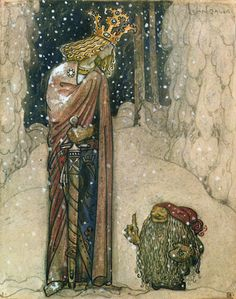 John Bauer - The Princess and the Troll